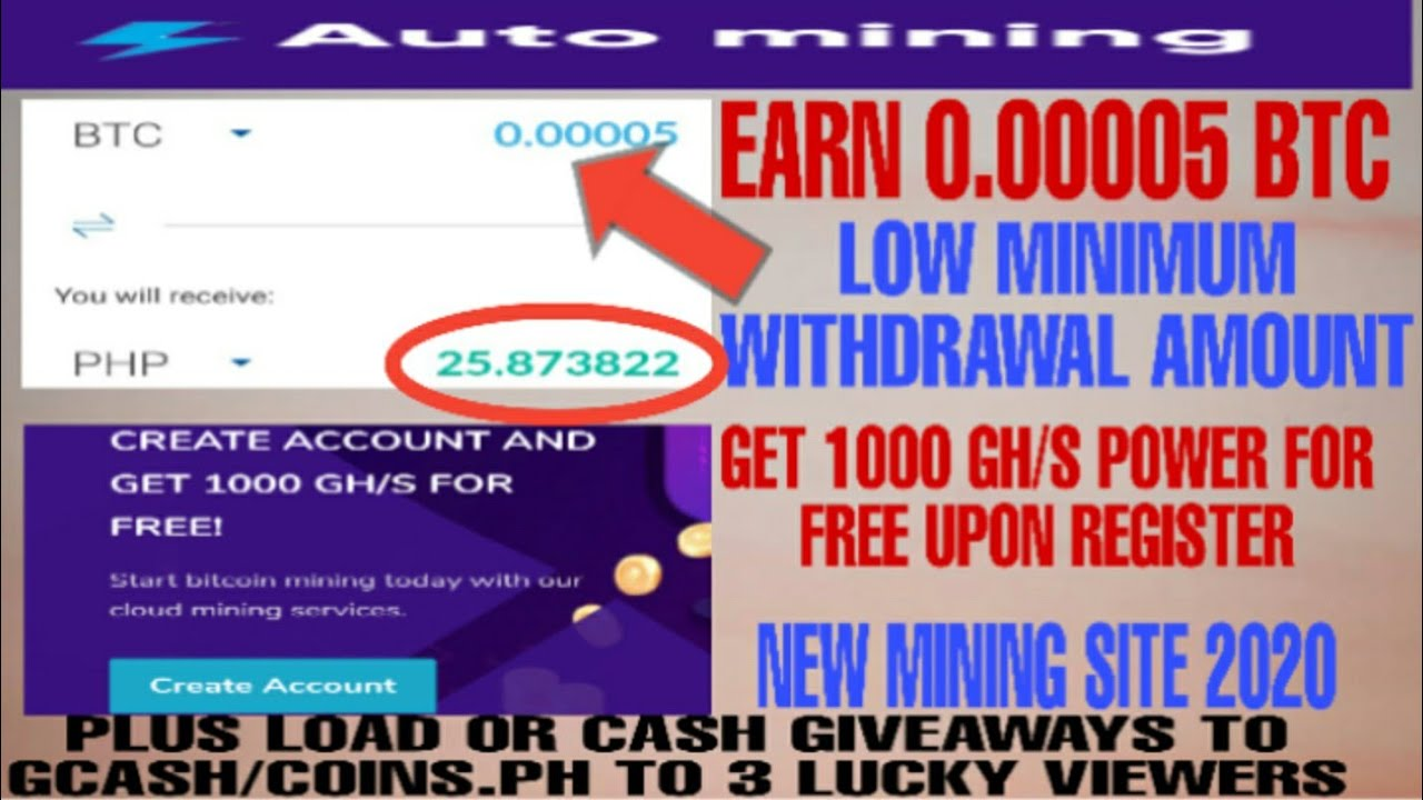 Earn Free 0 00005 Btc 1000 Gh S Free Upon Register Automining Cc Cloudmining App Review Youtube