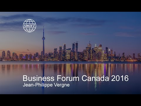 Jean-Philippe Vergne at SWIFT Business Forum Canada 2016