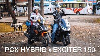 """Honda PCX Hybrid hay Yamaha Exciter - Xe nào đi """"phượt"""" thích hơn?   Xe.Tinhte.vn"""