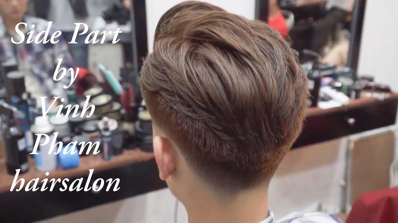 #18 Cách cắt tóc và tạo kiểu Side Part / Side Part Haircut 2018 / Vinh Phạm hair salon