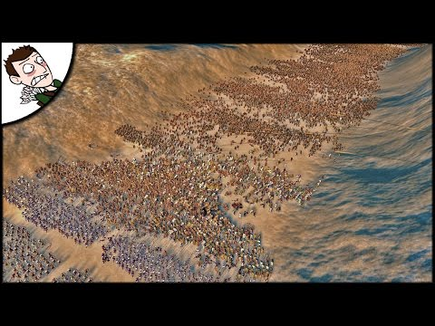 MASSIVE 20000 GREECE v ROME SURVIVAL BATTLE! Ancient Empires Gameplay (Total War Attila Mod)
