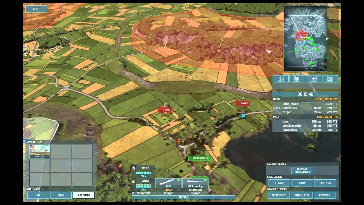 Wargame Airland Battle 3v3 On Trondheim New Map Using My Mechanized U S Deck