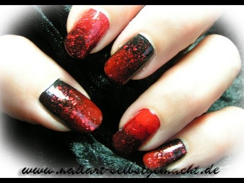 Creepy Scary And Y Nail Art Tutorial Red Black Diy Step By Ombre Nails
