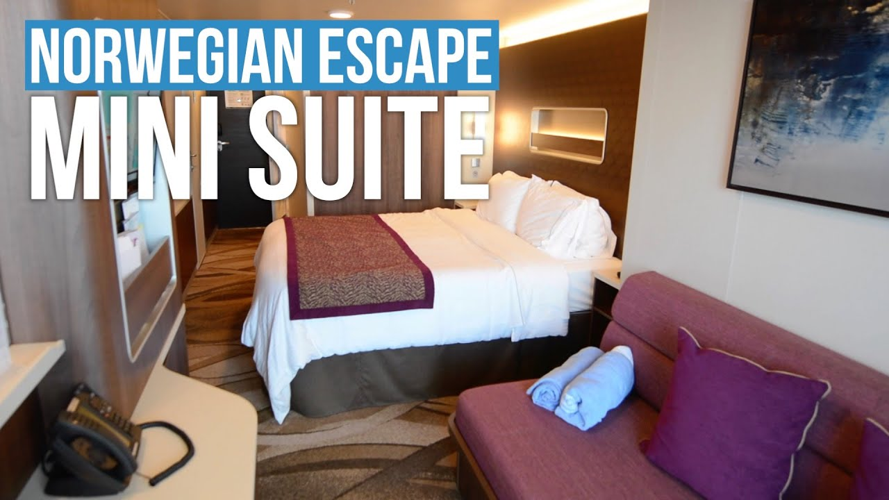 New norwegian escape mini suite tour youtube for Cruise balcony vs suite