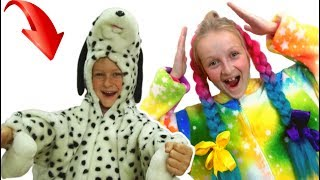 Pretend play with a dog by TaWaKi  kids\Funny video for children