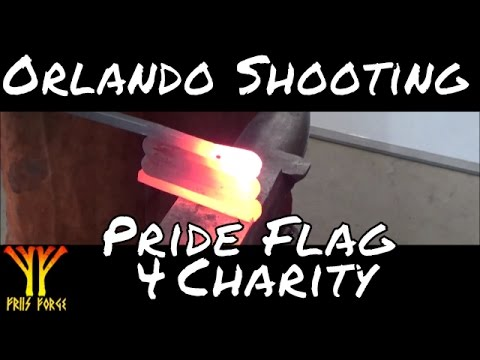 Pride Flag Forged for Orlando shooting Victims