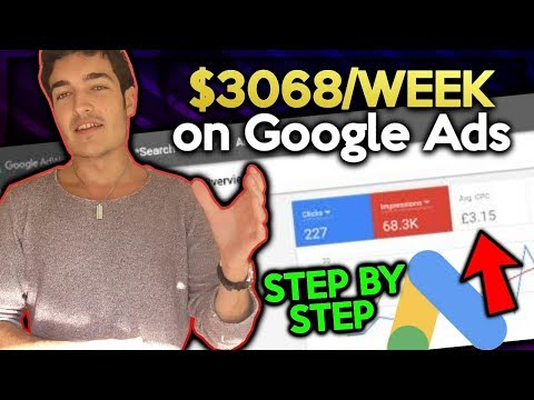 $3,068 SECOND Week  Google Ads For Shopify Dropshipping  STEPBYSTEP