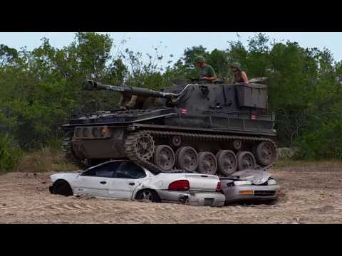 Driving a real tank at Tank America in Melbourne, FL