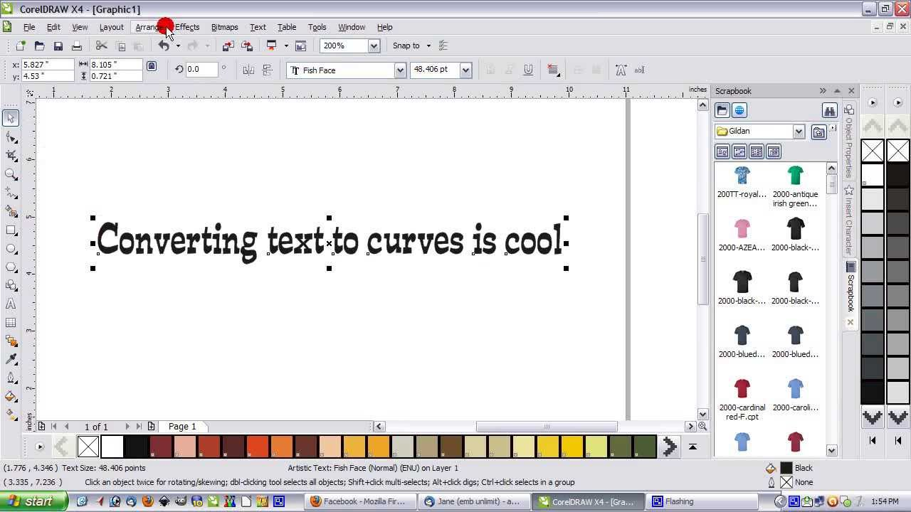 Converting Text To Curves  A Corel Draw How To