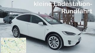 Tesla Model-X Roadtrip: kleine Ladestation Rundfahrt auf der schwäbischen Alb