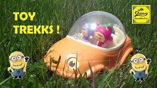 TOY TREKKS in DandeLionia with TEAM UMIZOOMI PAW PATROL and MINIONS Toys Surprise Parody Kids Video