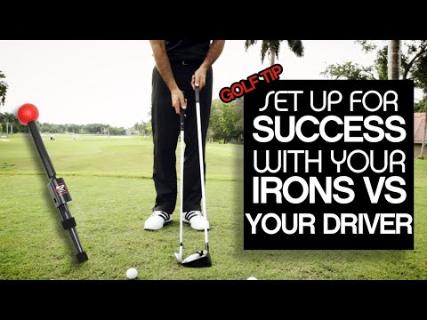 SETUP For Success With Your Irons VS Your Driver Using The Total Golf Trainer V2. Instant Feedback