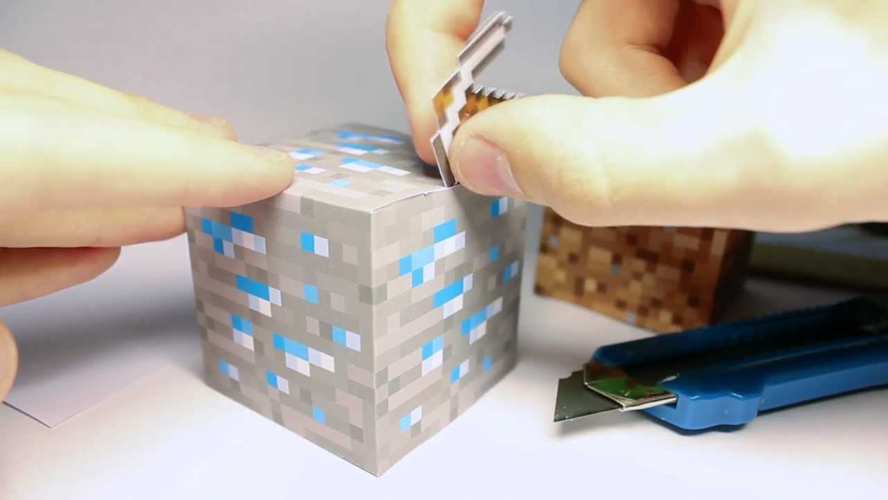 image regarding Minecraft Blocks Printable called Geeky Do it yourself: Minecraft block dice versus paper