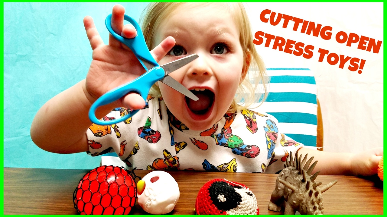 Squishy Toys With Stuff Inside : CUTTING OPEN STRESS BALLS - WHATS INSIDE SQUISHY SLIME TOYS KIDS MESH BALL JCS ADVENTURES - YouTube