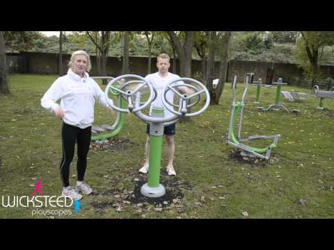Outdoor Gym Equipment - FLZ Four Wheel Spinner