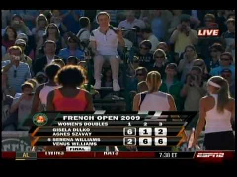 Serena & Venus Doubles 2nd Round 4/4- French Open 2009