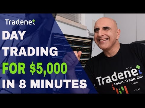 Day Trading Stocks for $5,000 in 8 Minutes!