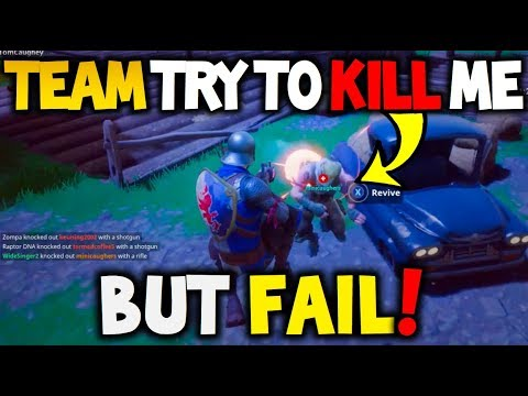 Fortnite Battle Royale - Team Mates Try To Kill Me But FAIL!! Then I WIN!