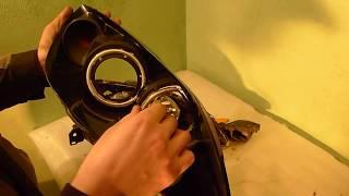 Детейлинг Авангард  Ремонт фар Mazda 3, тюнинг ангельские глазки, запотевание