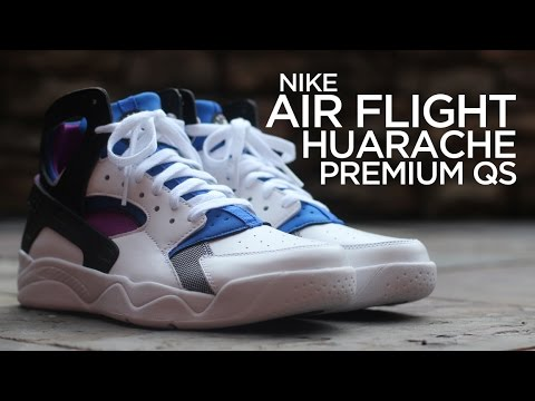 398f5f743e8d Closer Look  Nike Air Flight Huarache Premium QS - YouTube