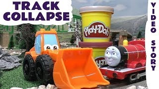 Play Doh Brick Mill Episode Thomas And Friends Toy Story Play-Doh Diggin Rigs James Track Collapse