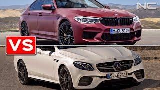 Смотреть видео Mercedes E63S 213 vs BMW M5 F90 в Москве онлайн