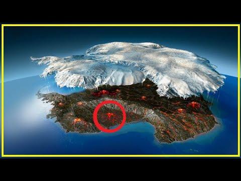 Descubren Enormes Volcanes Bajo la Antártida