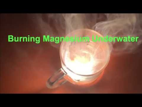 Burning Mg Underwater