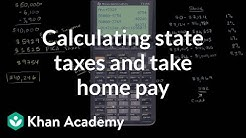 Calculating state taxes and take home pay | Taxes | Finance & Capital Markets | Khan Academy