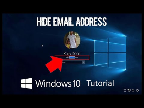 How to Hide Email Address from Sign in Screen | Microsoft Windows 10 Tutorial