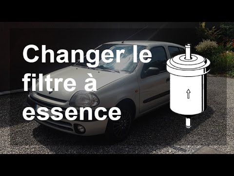 changer le filtre essence carburant renault clio 2 youtube. Black Bedroom Furniture Sets. Home Design Ideas