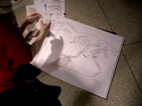 Drawing a Dinosaur with Dr. Robert T Bakker