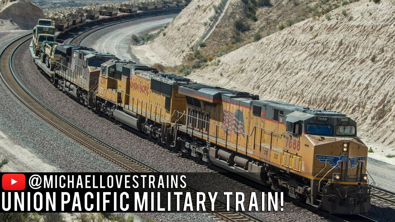 4k A Symbol Of Freedom Union Pacific Military Train On Beaumont