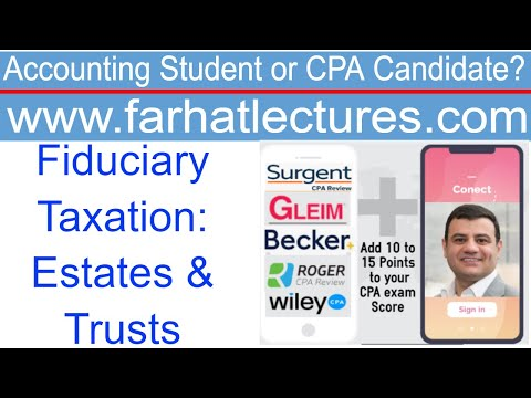 Fiduciary Taxation Estate and Trusts Tax Form 1041