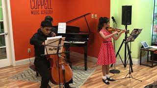 CMA Music Recital - string duo students