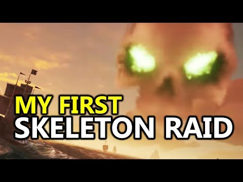 ♥ Sea of Thieves - My First Skeleton Raid For Epic Loot (SoT Coop Gameplay)