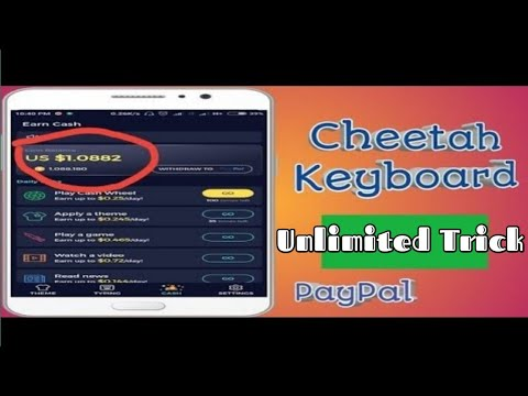 Cheetah Keyboard App || How To Earn Money From Cheetah Keyboard || Tricks  Hoster