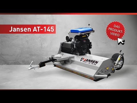 ATV - flail mower Jansen AT-145 with 23 HP petrol engine