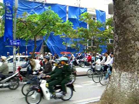 Motorbike Traffic in Hanoi