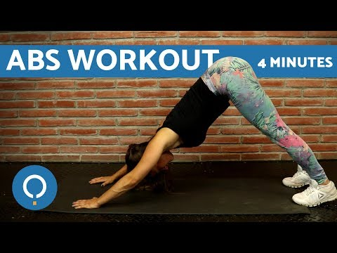 Abs workout for women beginners at home – 4 Minute Workout