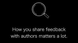 Make peer reviews more effective