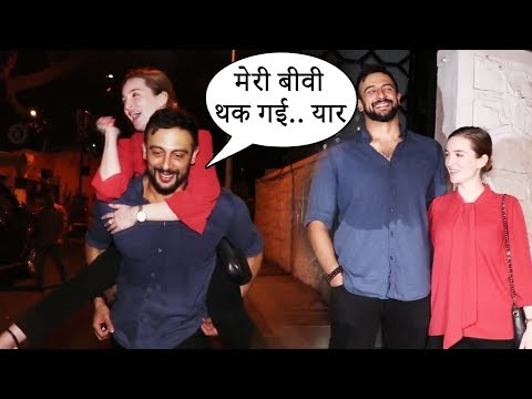 Arunoday Singh FUN With Wife Leeanna Singh After Drinks At Gaurav Kapur Birthday Party