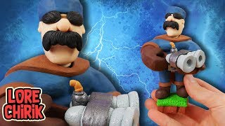 Making Hunter from Clash Royale in Polymer Clay