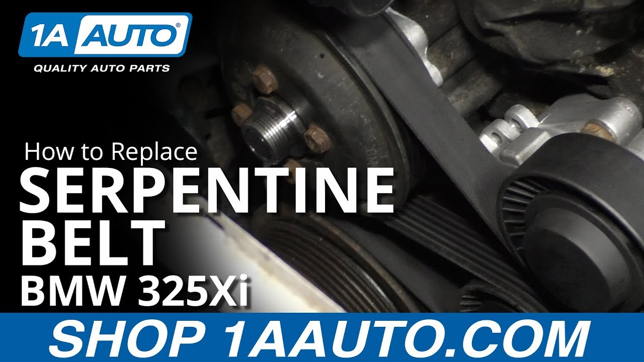 How To Replace Serpentine Belt 97 06 Bmw 325xi Youtube