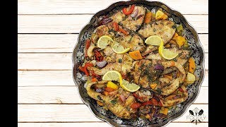 PIKE - PERCH ( FISH ) AND SWEET POTATOES OUT OF THE OVEN | RECIPE