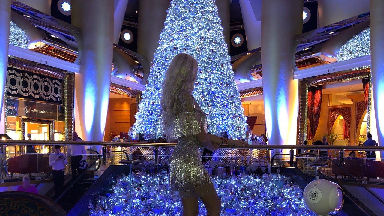 Рождество в отеле Burj Al Arab / Самый Дорогой Кофе с Золотом / Дубай Влог