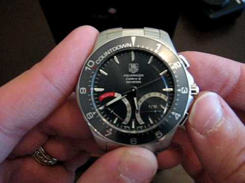 8b18c543f74 Tag Heuer Aquaracer Chronograph Calibre S - YouTube