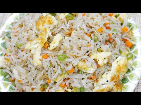 Chinese Egg Fried Rice - Indian Street Food - Instant Fried Rice Making