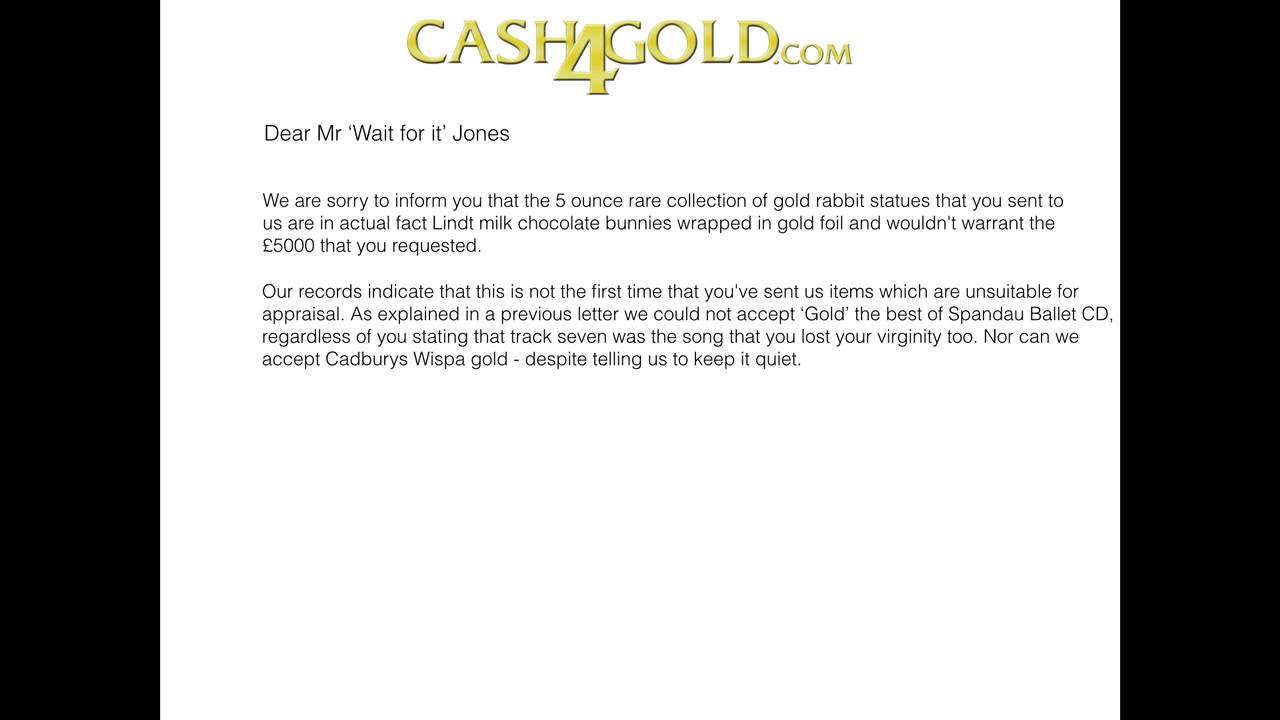 cash4gold 5 gold statues letter youtube