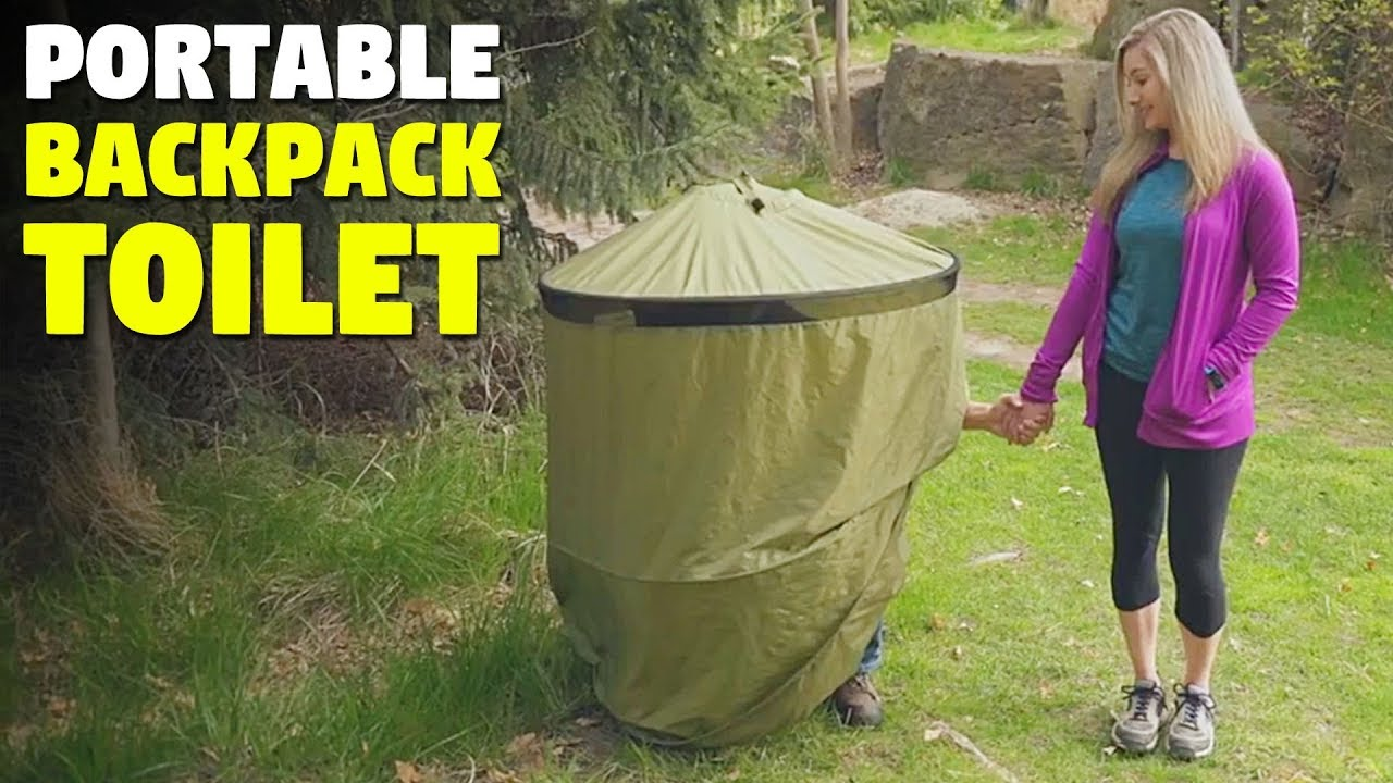 Portable Backpack Toilet Privacy Shelter System Youtube